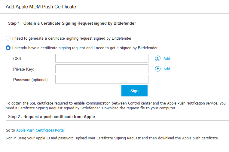How to renew the Apple MDM Push certificate
